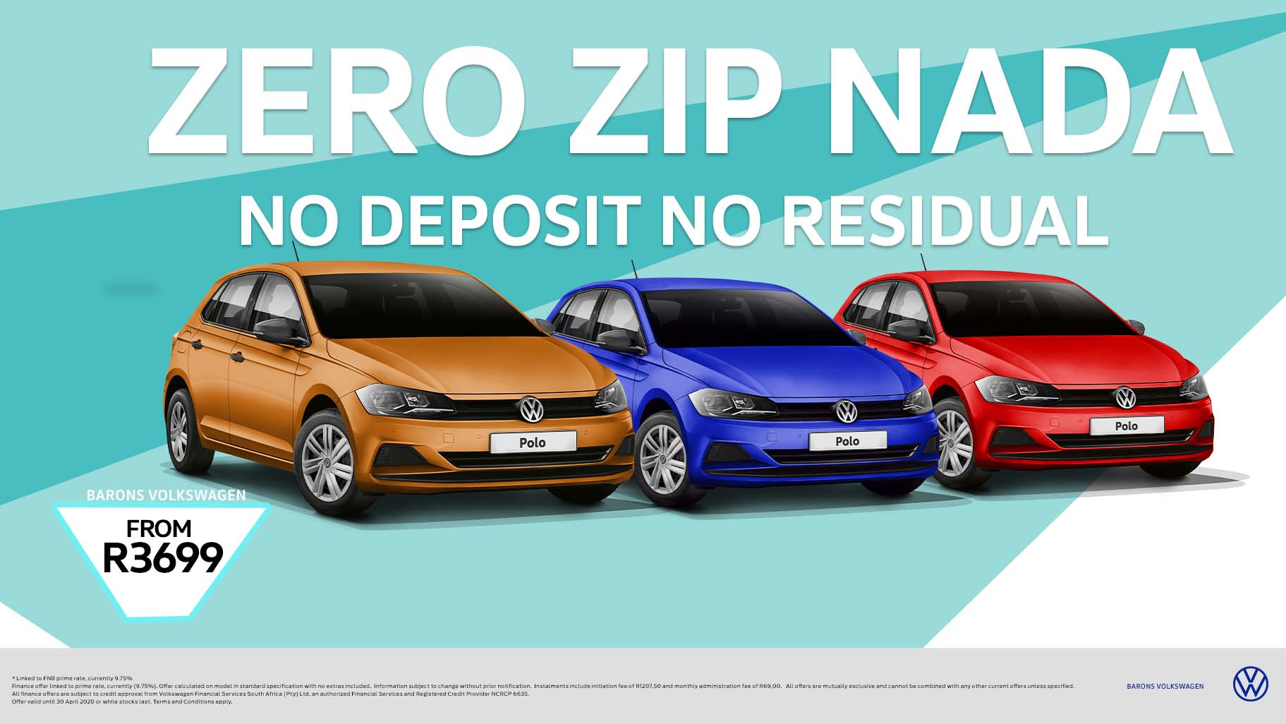 Barons N1 no deposit VW Polo car offer